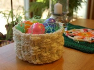 Basket Weave Crochet Basket Pattern