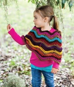Child's Crochet Poncho Pattern