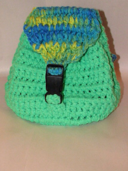 Crochet Back Bag : Crocheted Back Pack Pattern