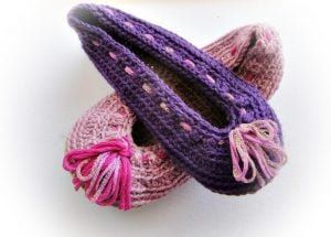 Crochet Ballerina Slippers Pattern