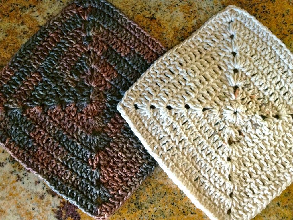 Crochet Square Patterns Crochet Dishcloth Pattern