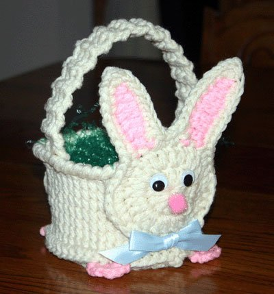 Crochet Patterns Easter : Pin Easter Craft Crochet Basket For Easter on Pinterest