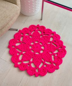 Crochet Flower Rug Pattern