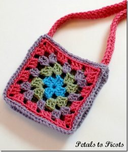 Crochet Granny Square Purse Pattern