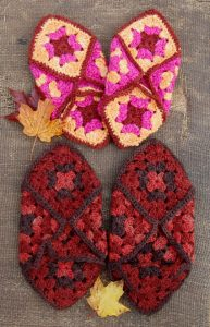 Crochet Granny Square Slippers Pattern