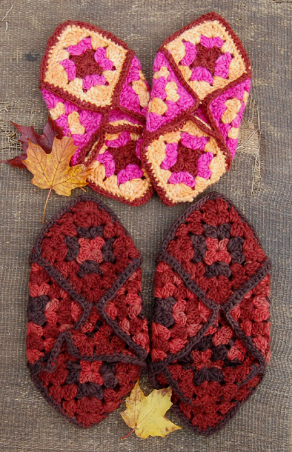 Crochet Granny Square Slipper Pattern : 29 Crochet Slippers Pattern Guide Patterns