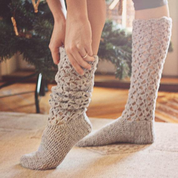 Free Crochet Patterns For Knee High Socks : 18 Crochet Sock Patterns Guide Patterns