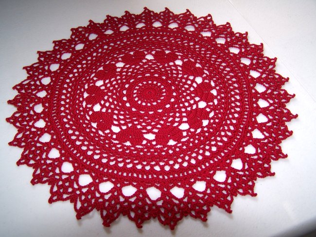 Free Crochet Pattern For Heart Doily : 15 Crochet Doily Patterns Guide Patterns