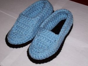 Crochet Moccasin Slippers Pattern