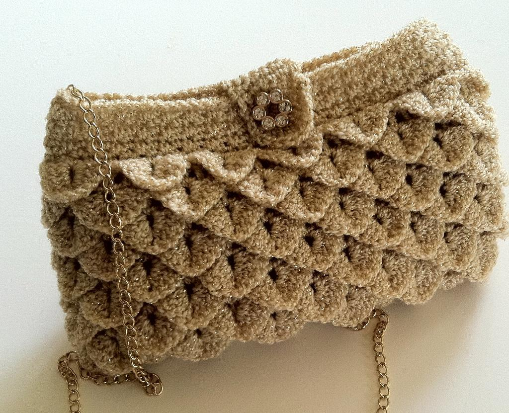 Clutch Bag Crochet : Crochet Purse with Strap Pattern