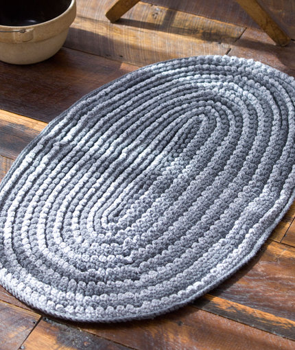Crocheting Rugs : Crochet Rug Pattern with Fabric Strips