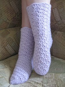 Crochet Tube Socks Pattern