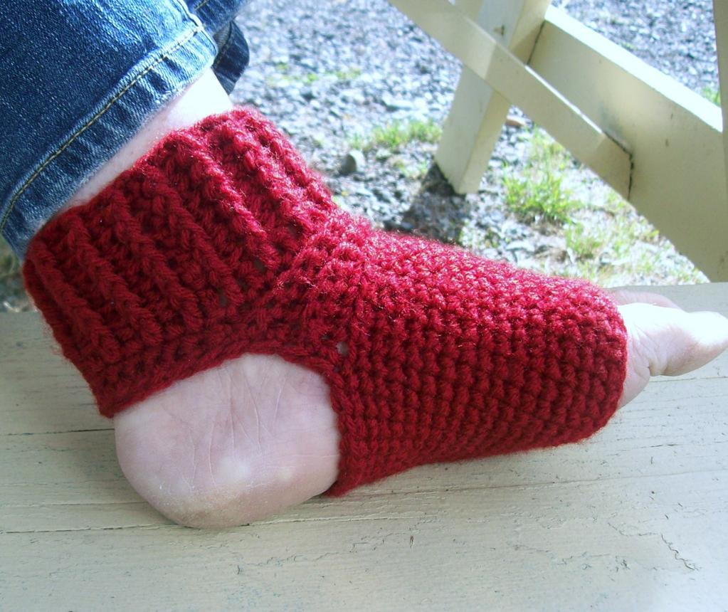 Crochet Yoga Socks : Crochet Yoga Socks Pattern