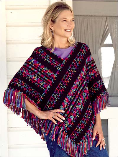 Crocheting Ponchos : Crocheted Poncho Pattern