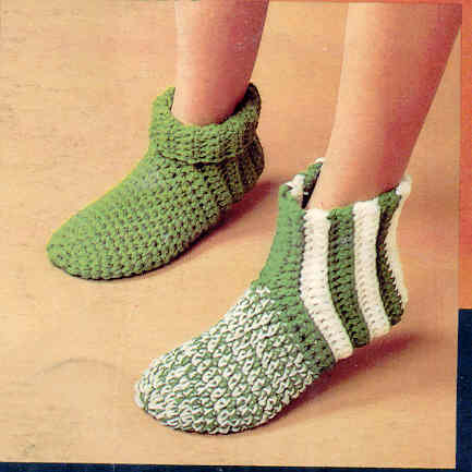 Crochet Socks : Crochet Pattern Central Free Slipper And Sock Crochet