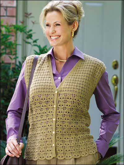 Free Crochet Patterns Vests Beginners : 14 Crochet Vest Patterns Guide Patterns