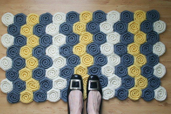 Free Crochet Rug Pattern With Yarn