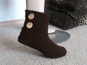 Free Crochet Slipper Boots Pattern