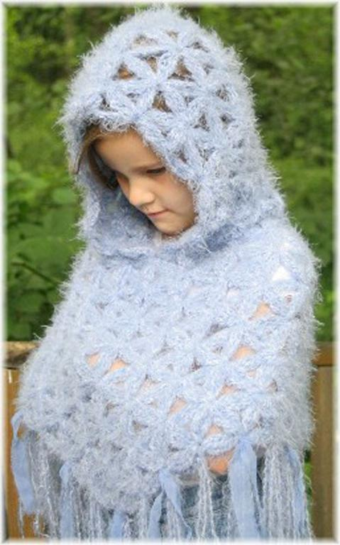Free Crochet Pattern For Baby Hooded Poncho ~ manet for .