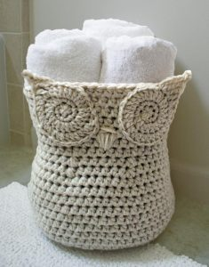 Owl Basket Crochet Pattern