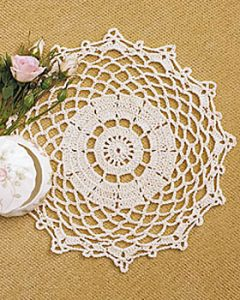 Simple Crochet Doily Pattern Tutorial
