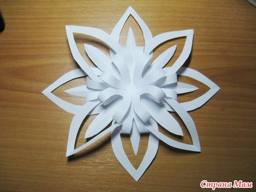 3D Paper Snowflake Step By