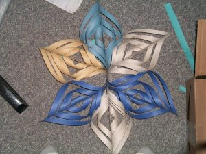 3D Snowflakes Out Of Construction Paper
