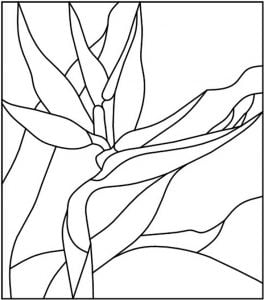 Abstract Stained Glass Pattern