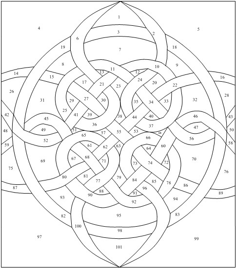 Terrible image for printable stained glass patterns