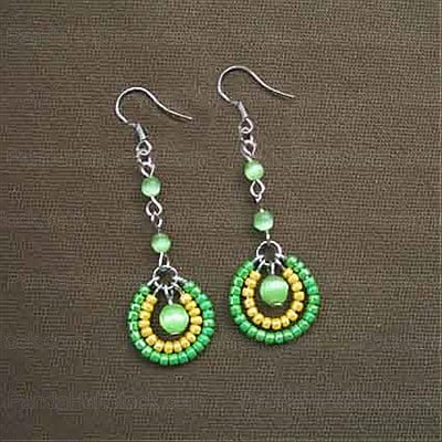 beading iron pumps tribal beaded earrings when diy