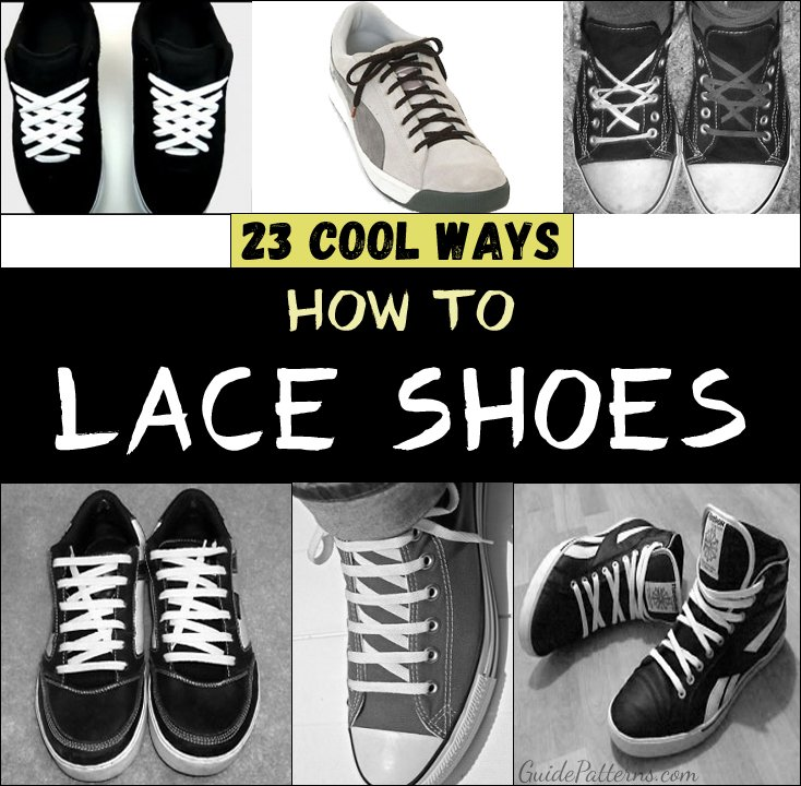 Shoes lace styles 5 holes sport