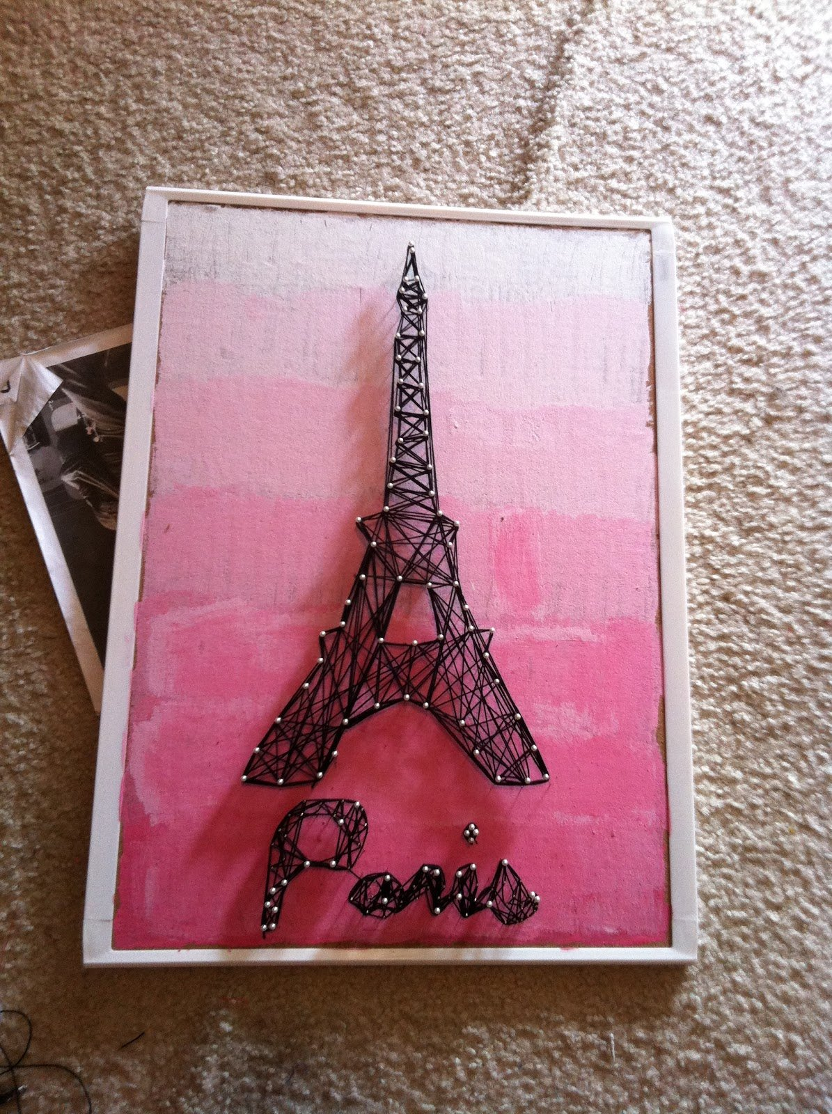 Eiffel Tower String Art