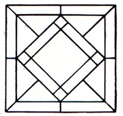 Geometric Stained Glass Pattern