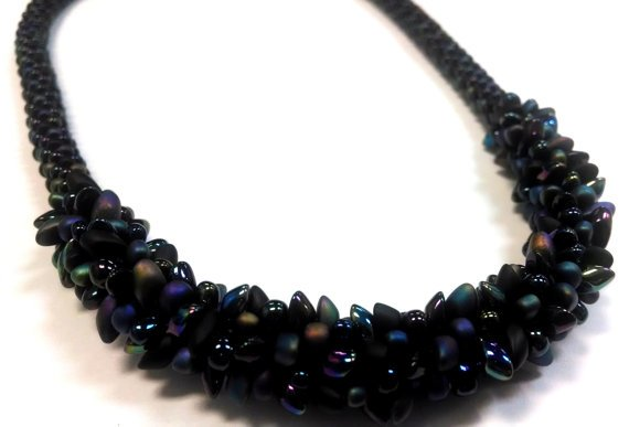 Bracelet making with black thread