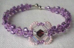 Macrame Bracelet Pattern with Beads