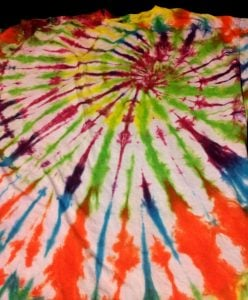 Rainbow Tie Dye Shirt Pattern