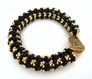 Seed Bead Bangle Bracelet