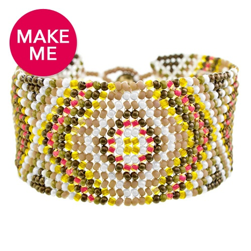 seed bead cuff bracelet - Beaded Bracelet Design Ideas