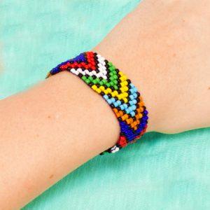 Seed Bead Loom Bracelet