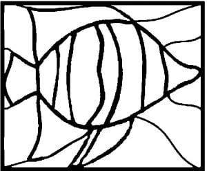 Stained Glass Fish Pattern