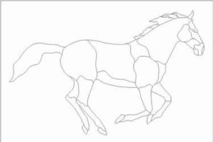 Stained Glass Horse Pattern