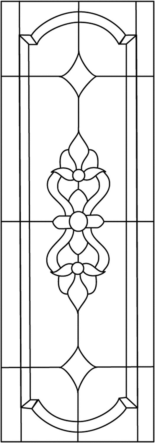 45 simple stained glass patterns guide patterns for Door pattern design
