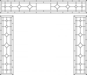 Stained Glass Transom Pattern