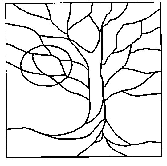 Simple stained glass patterns guide