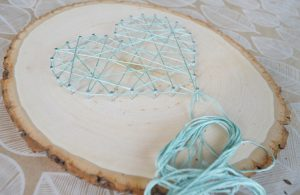 String Art Heart Pattern