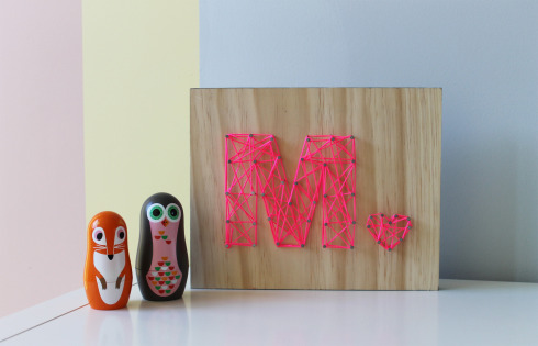 string art letter pattern