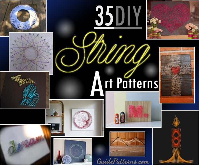 photo regarding Free Printable String Art Patterns With Instructions identify 35 Do it yourself String Artwork Types Consultant Behavior