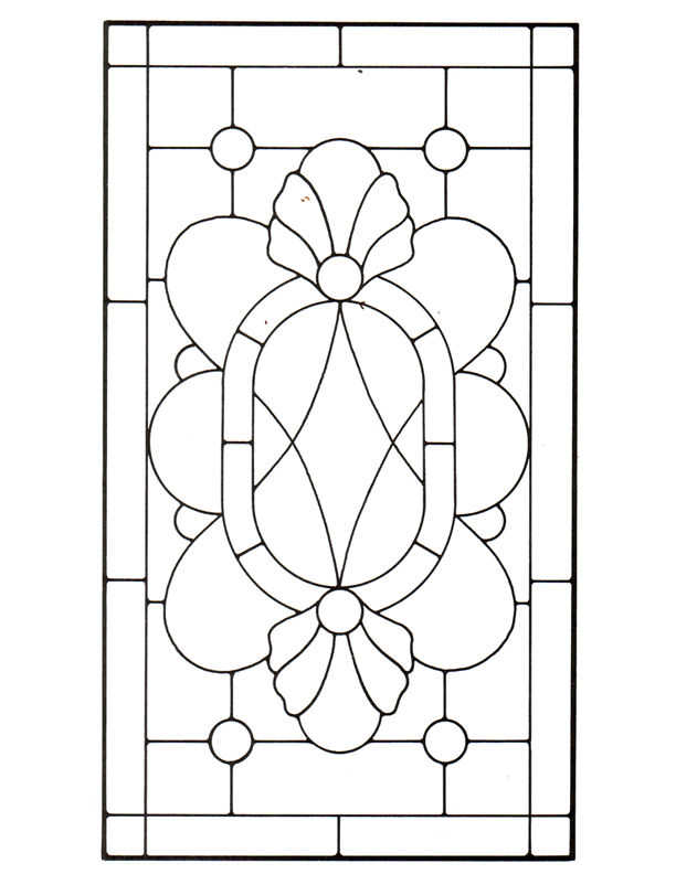 Stained Glass Window Patterns : Simple stained glass patterns guide