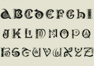 Wood Burning Alphabet