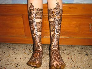Bridal Mehndi Designs for Feet